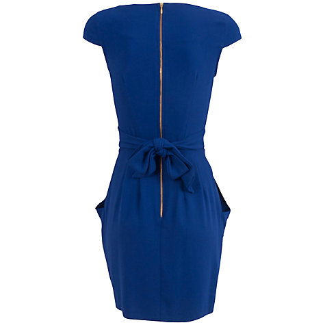 Buy Almari Pleat Dress, Blue Online at johnlewis.com