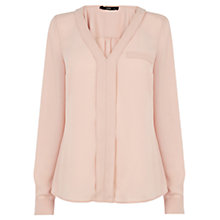 Buy Oasis Pink V-neck Blouse, Pale Pink Online at johnlewis.com