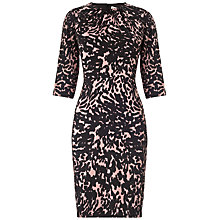 Buy Whistles Adelise Smudged Spot Bodycon Dress, Multicolour Online at johnlewis.com
