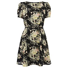 Buy Oasis Oriental Skater Dress, Multi Black Online at johnlewis.com