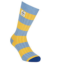 Buy Jollie Goods No.1 Stripe Cotton Socks, Blue/Yellow Online at johnlewis.com