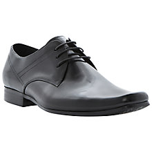 Buy Dune Alarms Leather Square Toe Shoes, Black Online at johnlewis.com