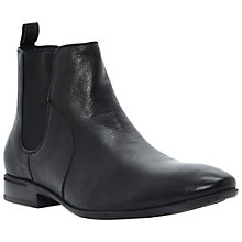 Buy Dune Mcartney Leather Chelsea Boots, Black Online at johnlewis.com