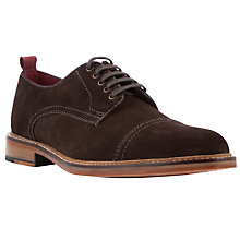 Buy JOHN LEWIS & Co. Suffolk Burnished Suede Derby Shoes, Chocolate Online at johnlewis.com