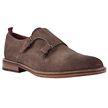 Buy JOHN LEWIS & Co. Somerset Suede Double Monk Shoes, Brown Online at johnlewis.com