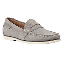 Buy Polo Ralph Lauren Blackley Suede Penny Loafers, Grey Online at johnlewis.com