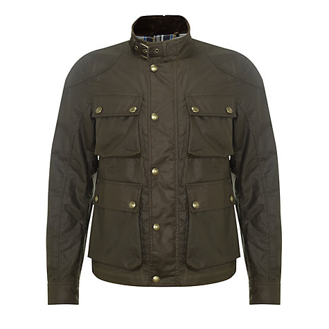 Buy Belstaff Burgess Waxed Cotton Jacket Online at johnlewis.com
