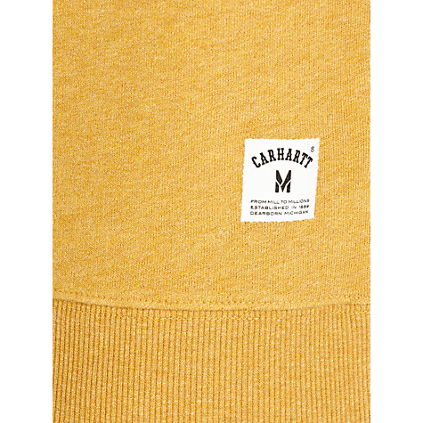 Buy Carhartt Holbrook Cotton-Jersey Sweatshirt, Saffron Online at johnlewis.com