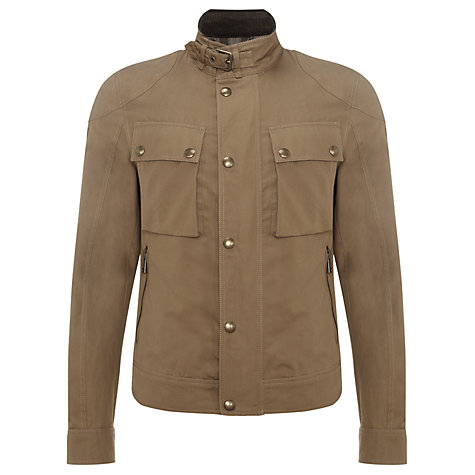Buy Belstaff Hempton Waxed Cotton Jacket, Racing Birch Online at johnlewis.com