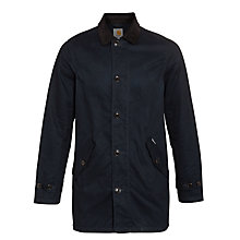 Buy Carhartt Martin Waxed Cotton Jacket, Deep Night/Black Online at johnlewis.com