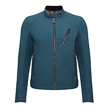 Buy Belstaff Kirkham Moto Jacket, Regency Blue Online at johnlewis.com