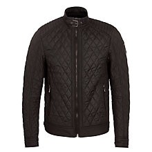 Buy Belstaff Bramley Lightweight Technical Quilted Jacket, Black Online at johnlewis.com