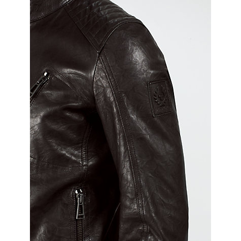 Buy Belstaff Kirkham Leather Biker Jacket Online at johnlewis.com