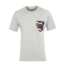 Buy Carhartt Hillcrest Camo Pocket T-Shirt, Grey Online at johnlewis.com