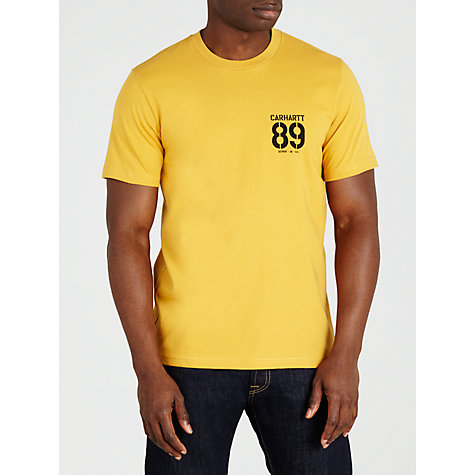 Buy Carhartt Stencil Logo T-Shirt, Yellow Online at johnlewis.com