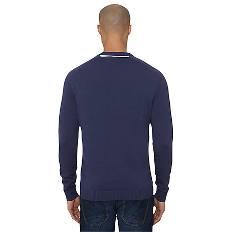 Buy Original Penguin Cotton Cable Knit Jumper, Dress Blues Online at johnlewis.com