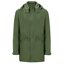 Buy Selected Homme Field Parka Jacket, Green Online at johnlewis.com