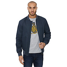 Buy Original Penguin Nelson Bomber Jacket, Dress Blue Online at johnlewis.com