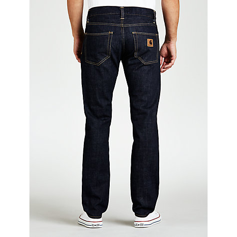 Buy Carhartt Klondike Slim Tapered Leg Jeans, Light Blue Wash Online at johnlewis.com