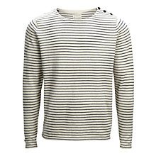 Buy Selected Homme Boat Split Stripe Crew Neck Top Online at johnlewis.com
