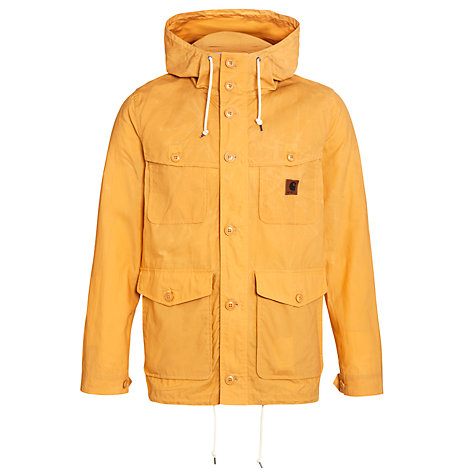 Buy Carhartt Mason Waxed Cotton Rain Jacket, Saffron Online at johnlewis.com
