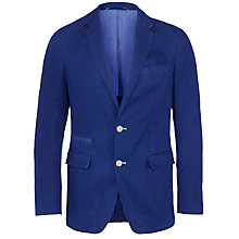 Buy Tommy Hilfiger Roman Linen Cotton Blazer, Bright Blue Online at johnlewis.com