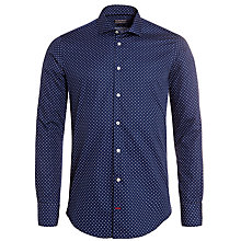 Buy Tommy Hilfiger Parker Long Sleeve Shirt, Blue Online at johnlewis.com