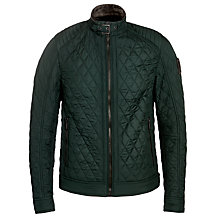 Buy Belstaff Bramley Lightweight Technical Quilted Jacket, Green Online at johnlewis.com
