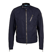 Buy Belstaff Kirkham Cotton Canvas Jacket, Ink Blue Online at johnlewis.com