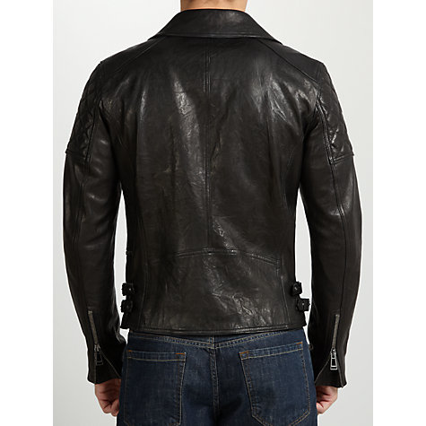 Buy Belstaff Thornwood Biker Jacket, Black Online at johnlewis.com