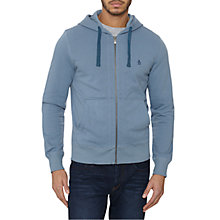 Buy Original Penguin Jersey Hooded Sweatshirt, Faded Denim Online at johnlewis.com