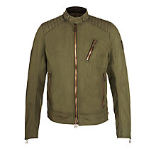 Buy Belstaff Kirkham Cotton Canvas Jacket, Light Olive Online at johnlewis.com