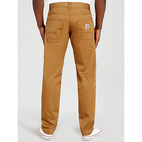 Buy Carhartt Skill Chino Trousers, Hamilton Brown Rinsed Online at johnlewis.com