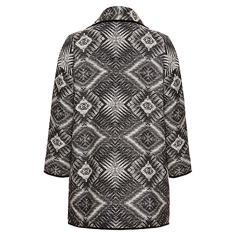 Buy allegra by Allegra Hicks Zigzag Jacquard Alice Coat, Black/White Online at johnlewis.com