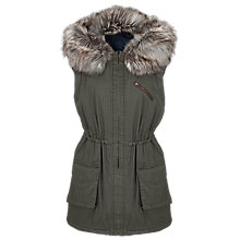 Buy French Connection Freda Parka Gilet, Tortoise Online at johnlewis.com