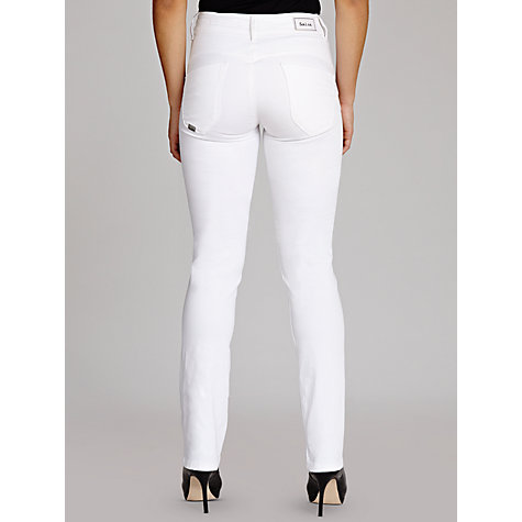 Buy Salsa Secret Push-In Slim Leg Jeans, White Online at johnlewis.com