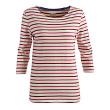 Buy Joules Harbour Jersey Top, Navy Stripe Online at johnlewis.com
