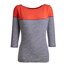 Buy Joules Paulette Jersey Top, New Melon Online at johnlewis.com