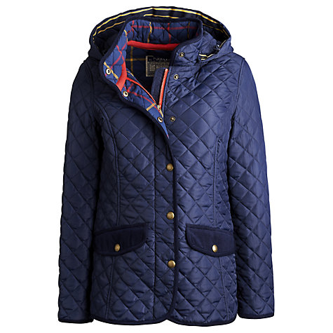 Buy Joules Marcote Quilted Jacket, Navy Online at johnlewis.com