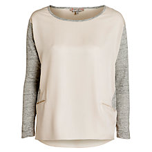 Buy Paul & Joe Sister Alec Contrast Sleeve Top, Beige Online at johnlewis.com
