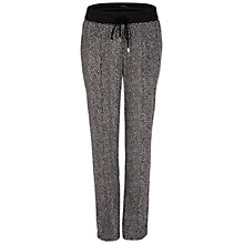 Buy Oui Print Trousers, Black/White Online at johnlewis.com