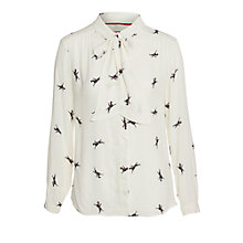 Buy Joules Shirley Shirt, Creme Horse Online at johnlewis.com