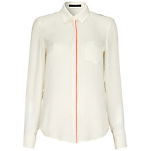 Buy Oui Contrast Trim Shirt, White/Red Online at johnlewis.com