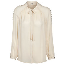 Buy Hoss Intropia Buttoned Sleeve Blouse, Ivory Online at johnlewis.com