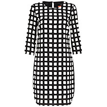 Buy Oui Windowpane Check Dress, Black/White Online at johnlewis.com