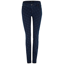Buy Oui Star Printed Jeans, Dark Blue Online at johnlewis.com