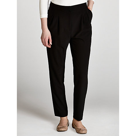 Buy Hoss Intropia Tailored Trousers, Black Online at johnlewis.com