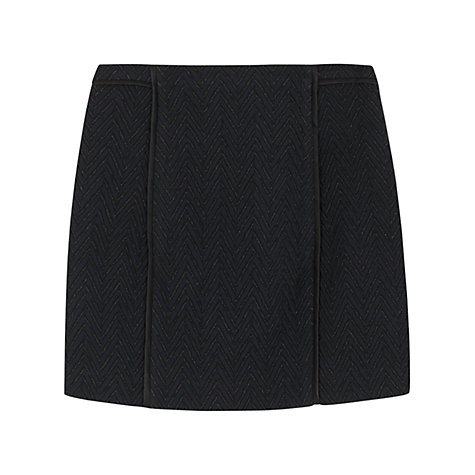 Buy Hoss Intropia Chevron Quilt Skirt, Black Online at johnlewis.com