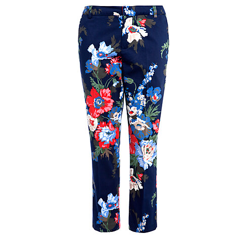 Buy Joules Lia Trousers, Navy Bouquet Online at johnlewis.com