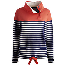 Buy Joules Harkaway Stripe Sweatshirt, New Melon Online at johnlewis.com